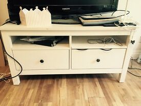 IKEA Hemnes White TV Bench *£50 if collected by20.10.16