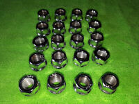 20x Alloy Wheel Open End Chrome Nuts M12 x 1.5 19mm Hex Head, used for sale  Leicester, Leicestershire