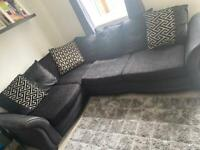 Dfs corner sofa with matching swivel chair