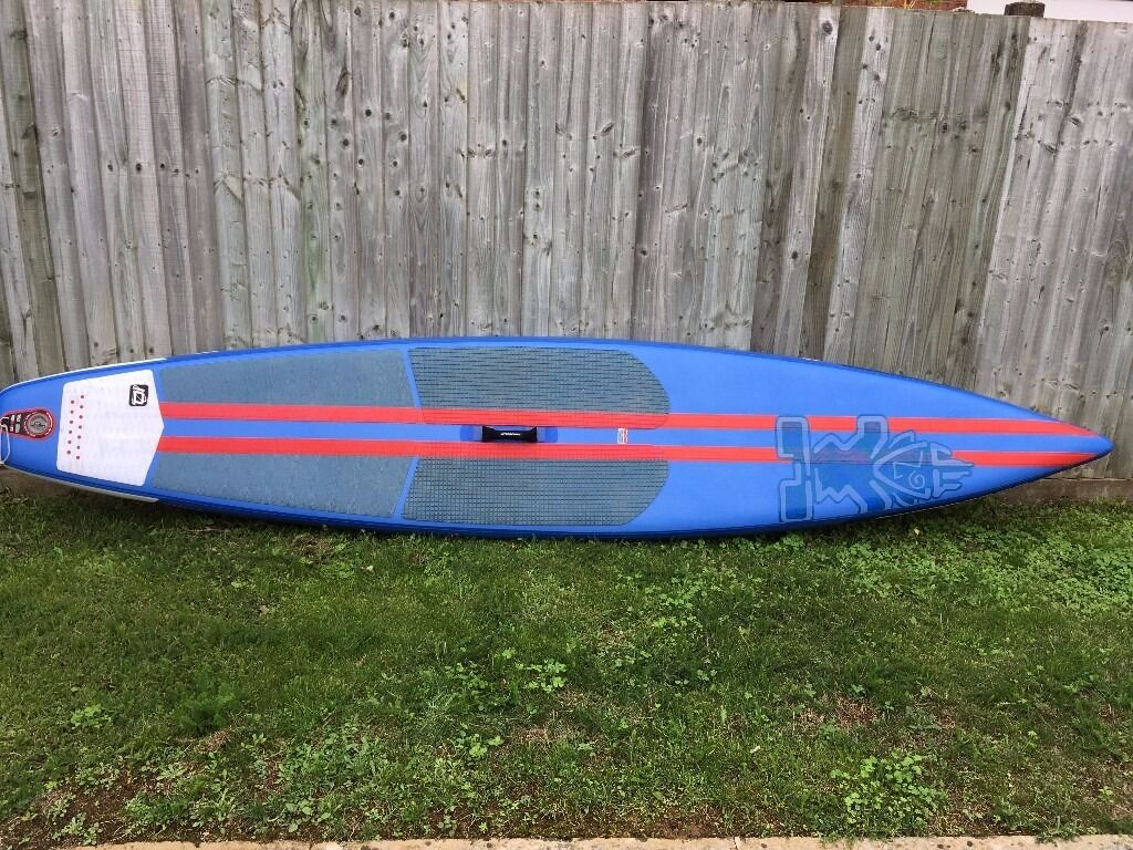 """Starboard """" 12' 6"""" Racer"""" inflatable stand-up paddle board, ex-demo in very good condition"""