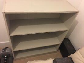 Grey 3 Shelf Bookcase