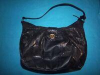 Black Snake Skin Print Handbag IP1