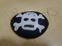 Pirate Patch – Black with skull and crossbones - New