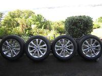 "18"" Alloy wheels x 4 with Bridgestone 235/55 R18 100H Ecopia H/L 422 plus tyres"
