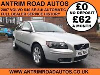 2007 VOLVO S40 SE 2.4 AUTOMATIC ** FULL DEALER SERVICE HISTORY ** FINANCE AVAILABLE WITH NO DEPOSIT