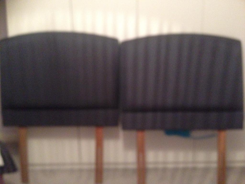2 canvas single headboards