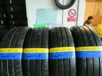 225 65 16 MATCHING CONTINENTAL VAN TYRES X4 8MM TREAD £140 INC FITTING AND BALANCE OPEN 7 DAYS