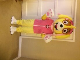 Used only once for 10 mins like new Adult size Paw Patrol Skye fancy dress Mascot
