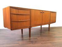 Retro Teak McIntosh Sideboard Vintage Mid Century Modern Unit Dresser Storage