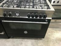 Stainless still fllibertazzon Italia 90cm dull full cooker grill & oven good condition with guara