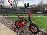 12inch Children's bicycle with steering stick for learners!