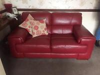 Cousins Two Seater Leather Settee