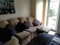 Beige/cream corner sofa