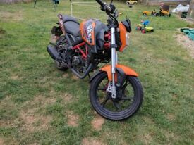 2016 KSR GRS 125cc Motorcycle