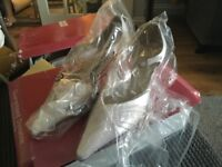Brand new satin white bridal shoes size 4.5