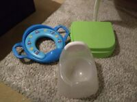 Potty step and Thomas the tank toilet seat