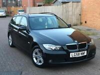 BMW 318D SE DIESEL 6 SPEED MANUAL GEARBOX, IT COMES IN LOVELY BLACK ESTATE FAMILY VEHICLE