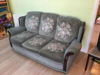 Settee, chair and footrest (with storage)