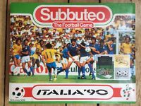 Subbuteo Italia'90 football game World cup edition Good used condition (3? small parts missing)