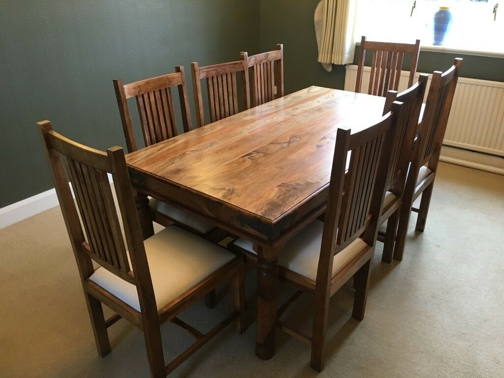 Sheesham Solid Wood Dining Table And 8 Chairs