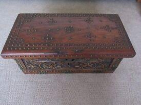A Studded Hardwood Chest / Storage Box of Eastern Origin