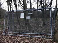Heras fencing panels, support feet & anti tamper clips