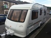 Elddis Avante 2002 5 berth clean and ready to use family caravan with end shut off bed room