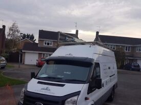 Ford transit van lwb jumbo glazing van. No vat. Ready to work