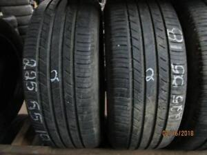 225/55R18 SET OF 4 USED MICHELIN ALL SEASON TIRES