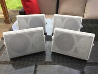 4 x White Passive Speakers great sound