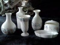 Collection of 6 Pieces of 'Angela' Wedgewood / Wedgwood Pottery