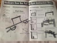 Medicarn door bar pull up