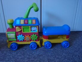 push/pull along toy train for baby/toddler.Battery operated