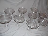 9 Giant Cocktail Glasses, table decoration, 26cm H x 23cmd diam.