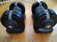 Bodymax 2 x 5 kg - 32.5kg (11lb - 71lb) Selectabell Adjustable Dumbbells (dumbells, bench, weights)