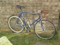 Reynolds 500 Dawes Sterling Racer Road Bike Converted Fixie track Bike single speed