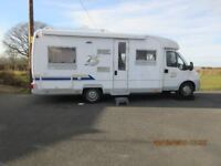 German coach built motorhome, low line, 5 Berth, righthand drive.