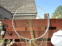 2ft round landing net with extension, with extra 10ft net for £5 extra, same fit