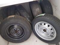 Caravan, trailer or car spare wheels