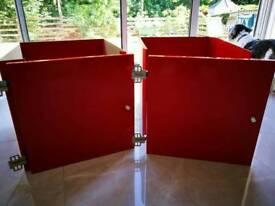 2 Red gloss ikea kallax door inserts