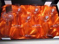 WEBB CONTINENTAL LEAD CRYSTAL WINE GLASSES