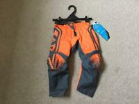 "New Kids Motocross Pants Size 18"" 20"" 22"" MX YOUTH BOYS GIRLS TROUSERS PW50 LT50 KTM SX PITBIKE CRF"