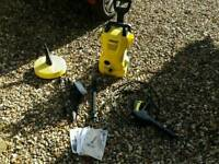 Karcher k2 pressure washer with accessories. Faulty.