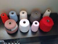 9 cones of knitting yarn