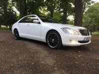 MERCEDES S CLASS 2006-WHITE-FULLY LOADED-LIMOUSINE EDITION-320 CDI-DIESEL-AUTOMATIC-RUNS DREAM