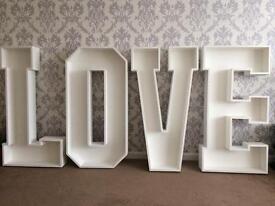 4ft giant love letters wedding