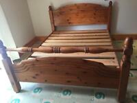 Pine king size bed