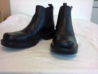 Mens 'Wrangler' Pull on Leather Ankle Boots, Black Size 9, Very good condition.
