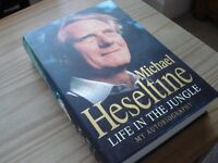 Book - Life In The Jungle SIGNED BY AUTHOR Michael Heseltine.