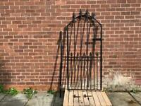Wrought iron pedestrian gate